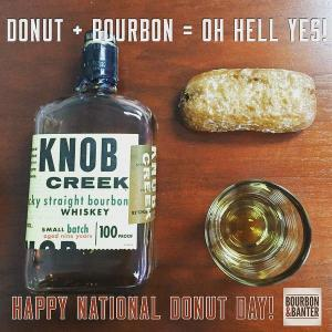 knob creek an donut