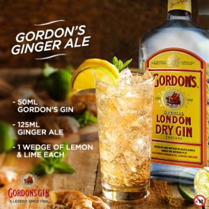 Gordons lemon & lime