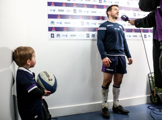 Guinness greig laidlaw and baby